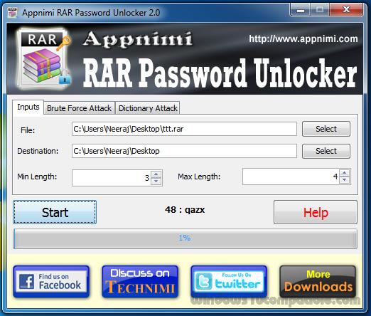 freeware rar password unlocker